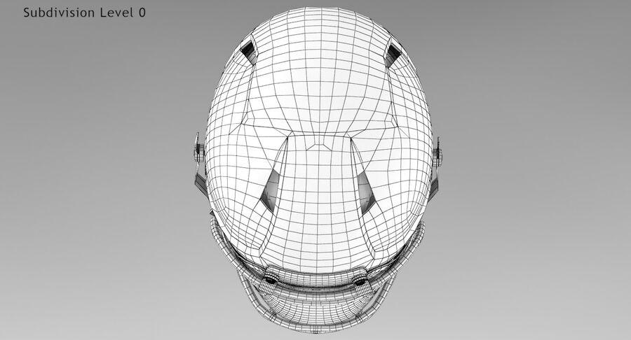 Американский футбольный шлем royalty-free 3d model - Preview no. 15