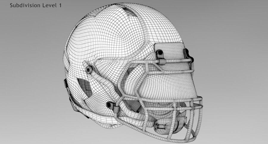 Американский футбольный шлем royalty-free 3d model - Preview no. 14