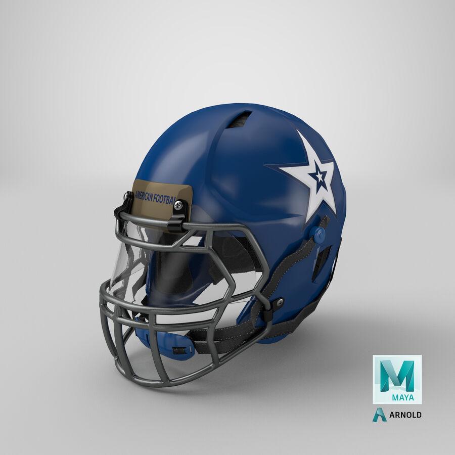 Американский футбольный шлем royalty-free 3d model - Preview no. 29