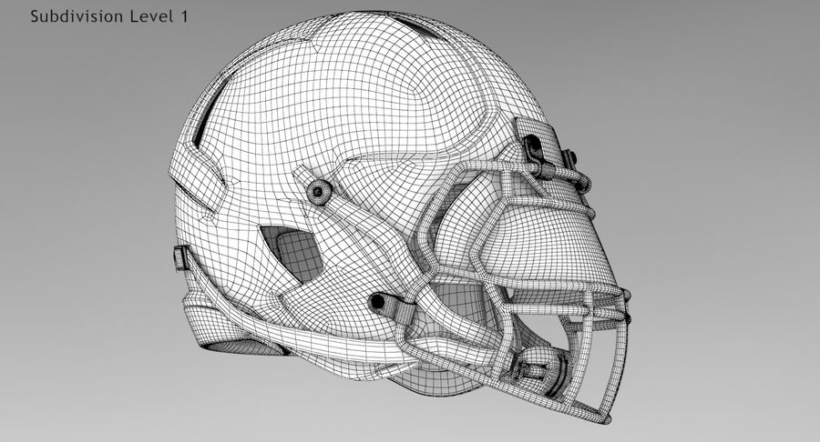 Американский футбольный шлем royalty-free 3d model - Preview no. 10