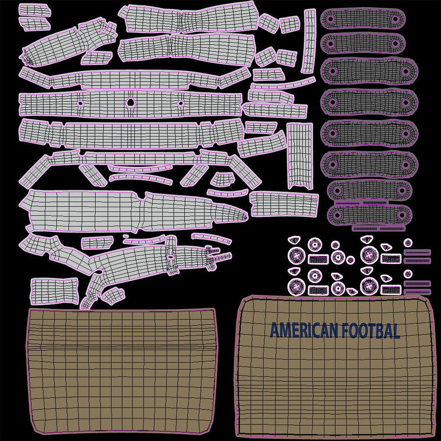Американский футбольный шлем royalty-free 3d model - Preview no. 19