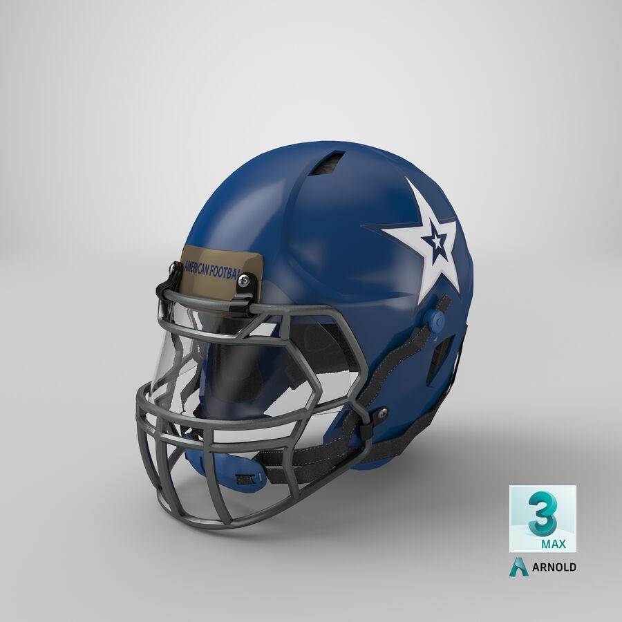 Американский футбольный шлем royalty-free 3d model - Preview no. 26