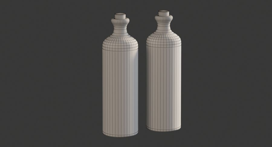 Ceramic Oil Bottles royalty-free 3d model - Preview no. 7
