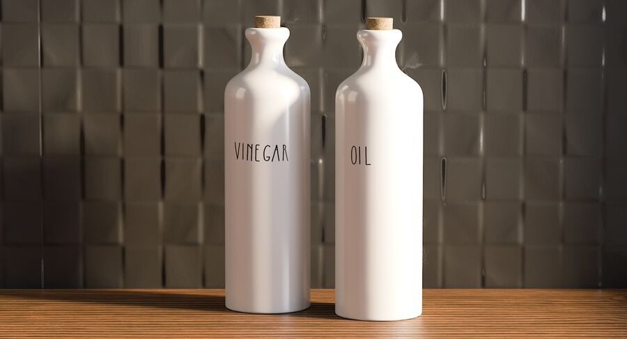 Ceramic Oil Bottles royalty-free 3d model - Preview no. 4