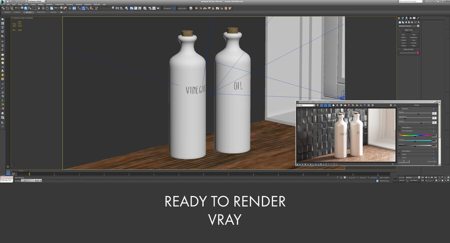 Ceramic Oil Bottles royalty-free 3d model - Preview no. 15