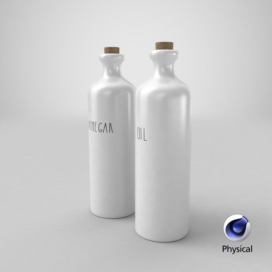 Ceramic Oil Bottles royalty-free 3d model - Preview no. 16