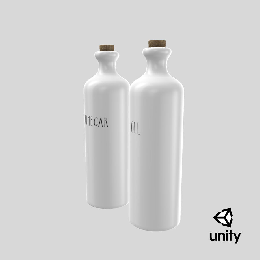 Ceramic Oil Bottles royalty-free 3d model - Preview no. 18