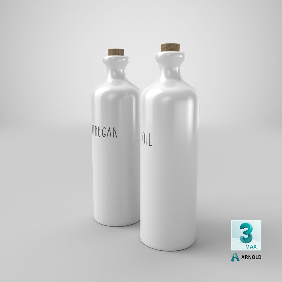 Ceramic Oil Bottles royalty-free 3d model - Preview no. 20