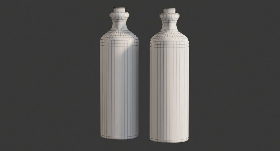 Ceramic Oil Bottles royalty-free 3d model - Preview no. 8