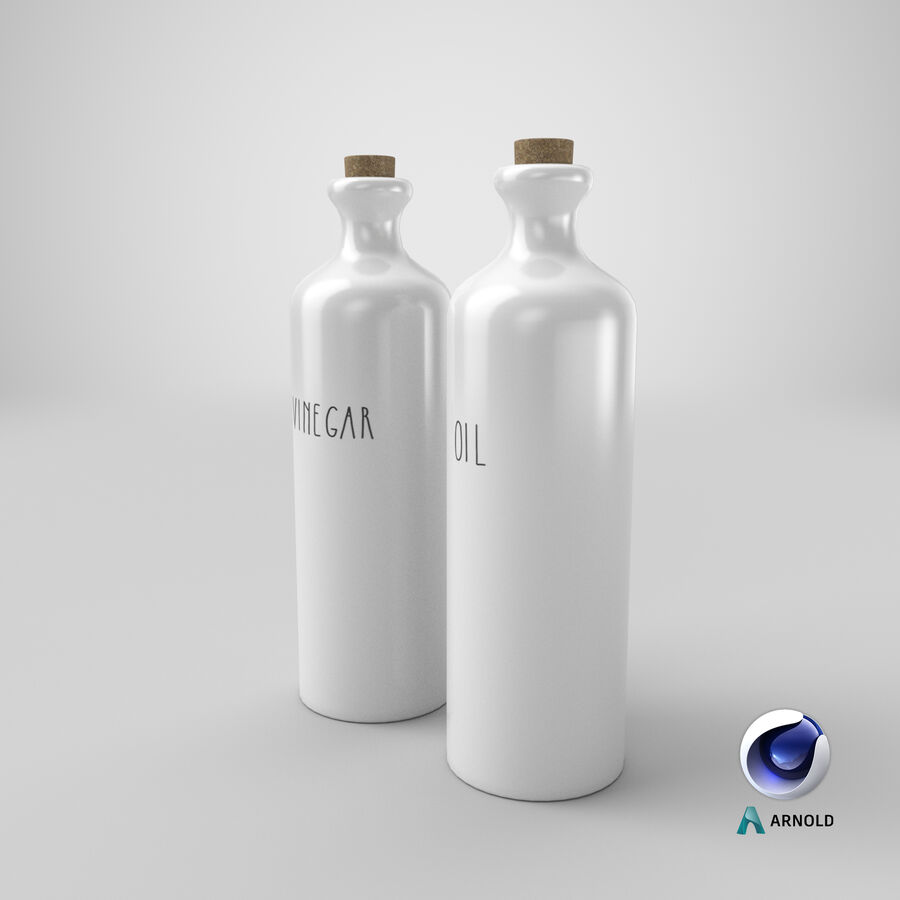 Ceramic Oil Bottles royalty-free 3d model - Preview no. 17