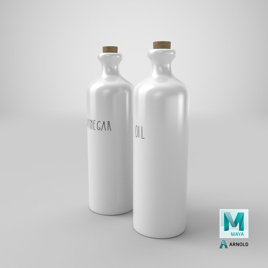 Ceramic Oil Bottles royalty-free 3d model - Preview no. 23