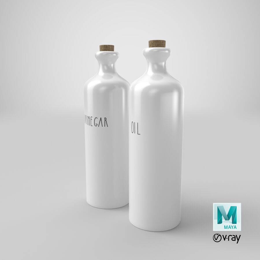 Ceramic Oil Bottles royalty-free 3d model - Preview no. 25
