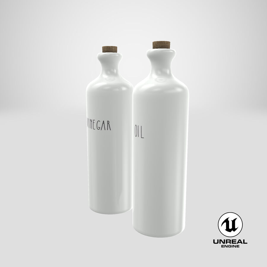 Ceramic Oil Bottles royalty-free 3d model - Preview no. 19