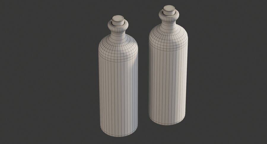 Ceramic Oil Bottles royalty-free 3d model - Preview no. 10