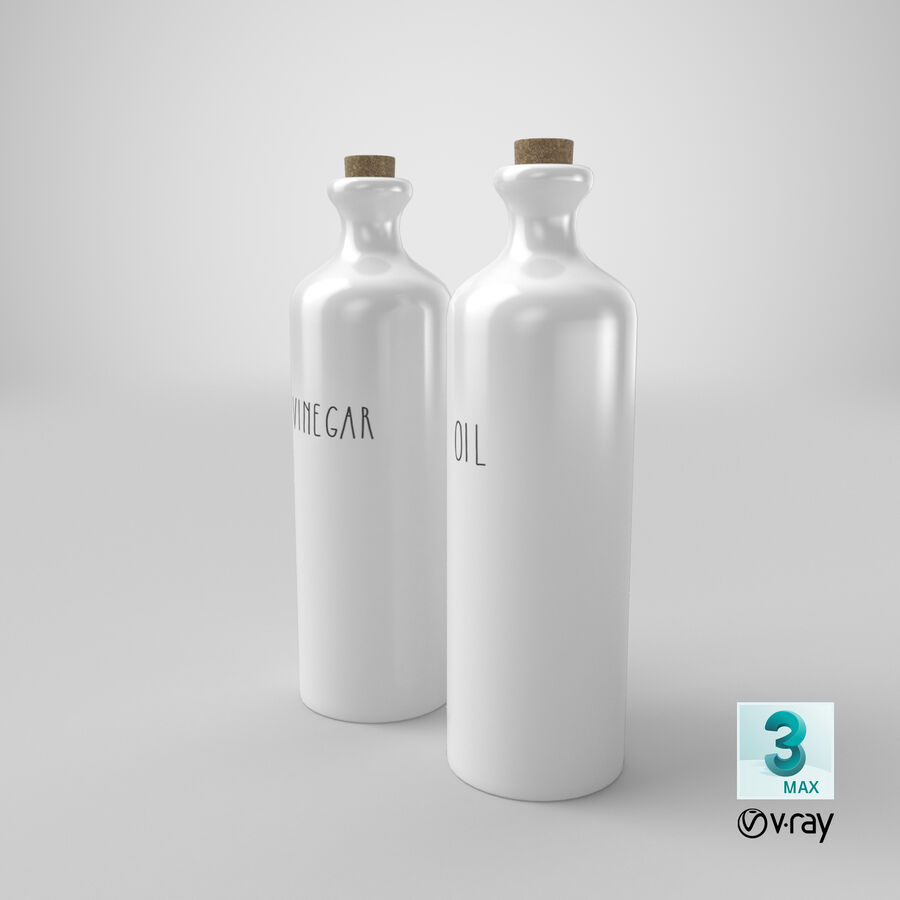 Ceramic Oil Bottles royalty-free 3d model - Preview no. 22