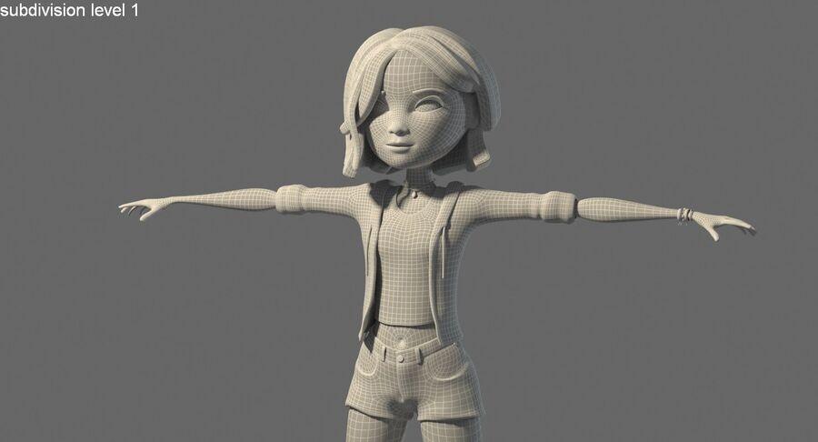 Çizgi film genç kız royalty-free 3d model - Preview no. 10