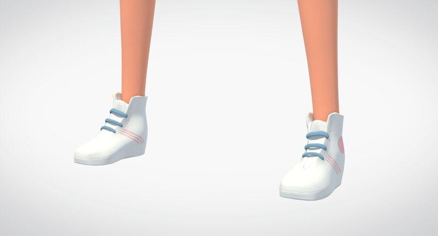 Çizgi film genç kız royalty-free 3d model - Preview no. 4