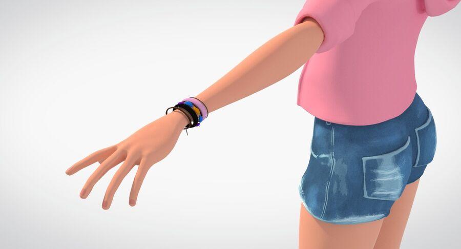 Çizgi film genç kız royalty-free 3d model - Preview no. 7