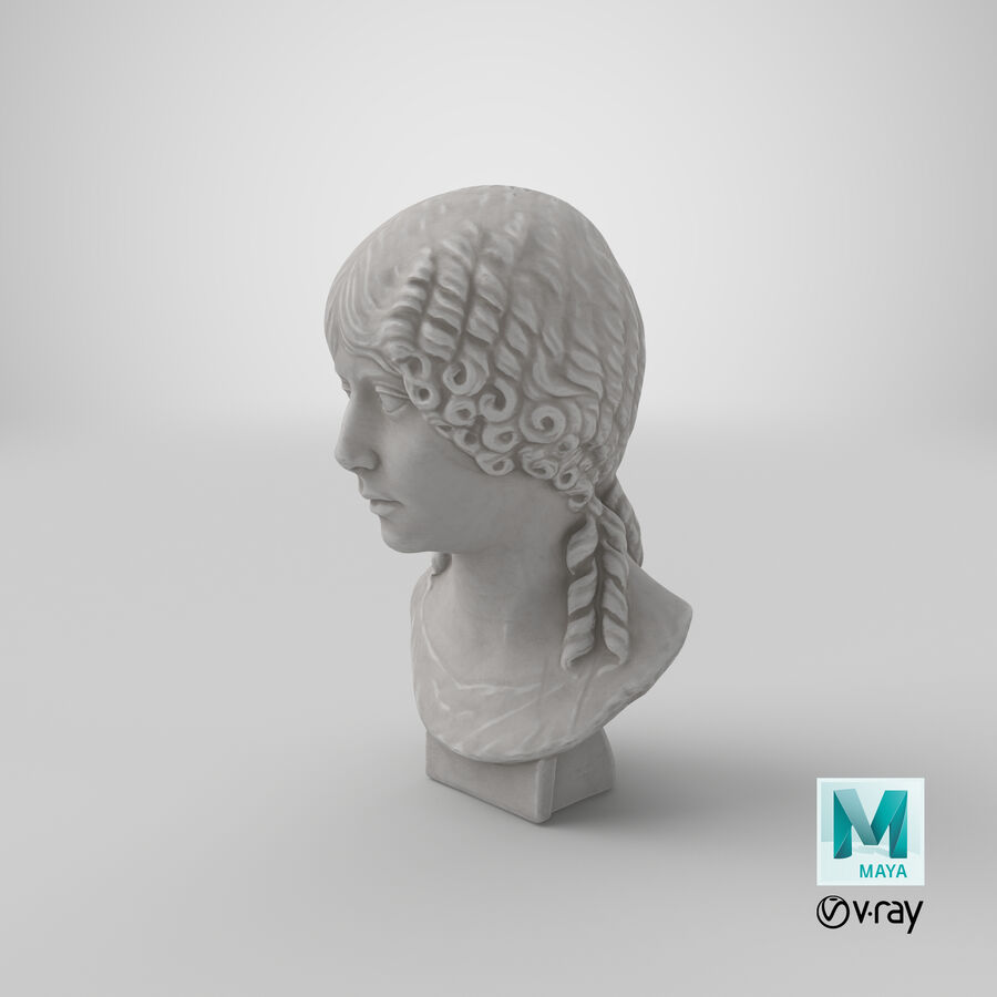 Buste van een meisje royalty-free 3d model - Preview no. 37