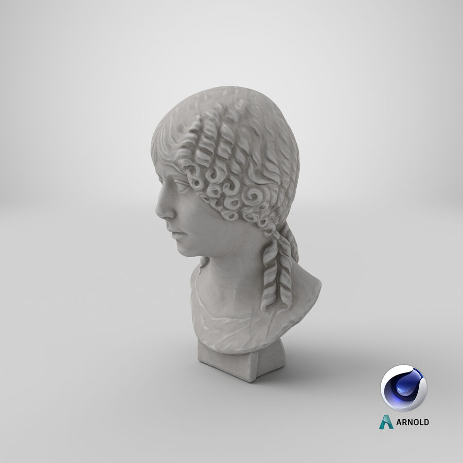 Buste van een meisje royalty-free 3d model - Preview no. 29