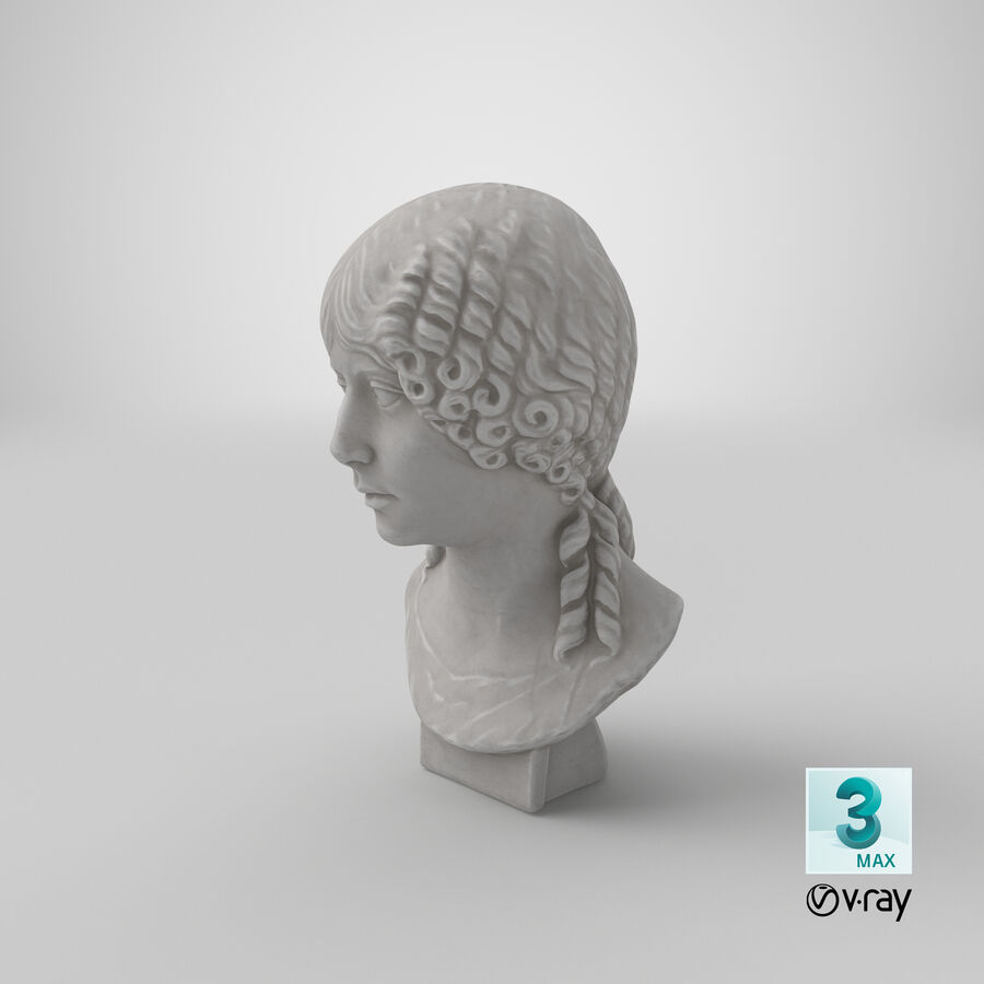 Buste van een meisje royalty-free 3d model - Preview no. 34