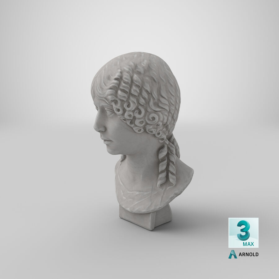 Buste van een meisje royalty-free 3d model - Preview no. 32