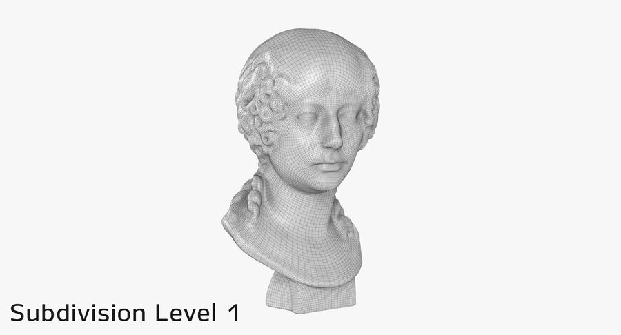 Buste van een meisje royalty-free 3d model - Preview no. 19