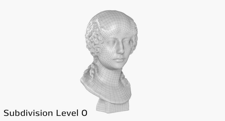 Buste van een meisje royalty-free 3d model - Preview no. 18