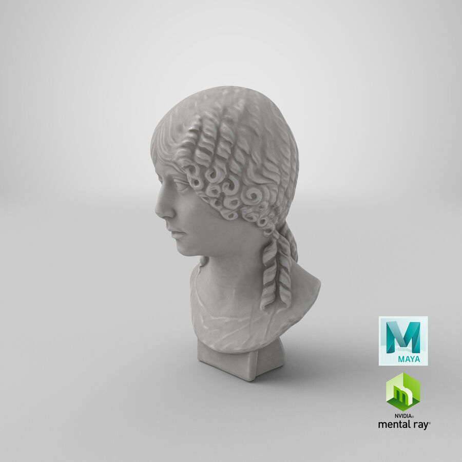 Buste van een meisje royalty-free 3d model - Preview no. 36