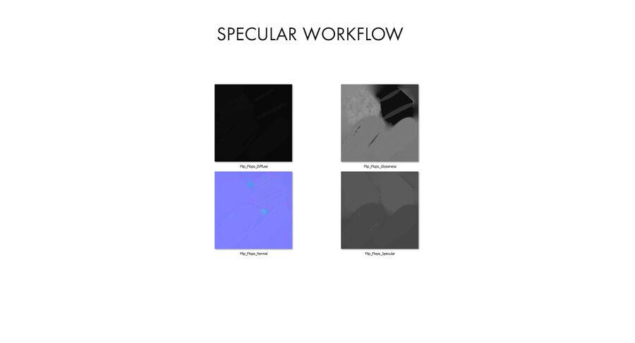 Flip Flops royalty-free 3d model - Preview no. 31