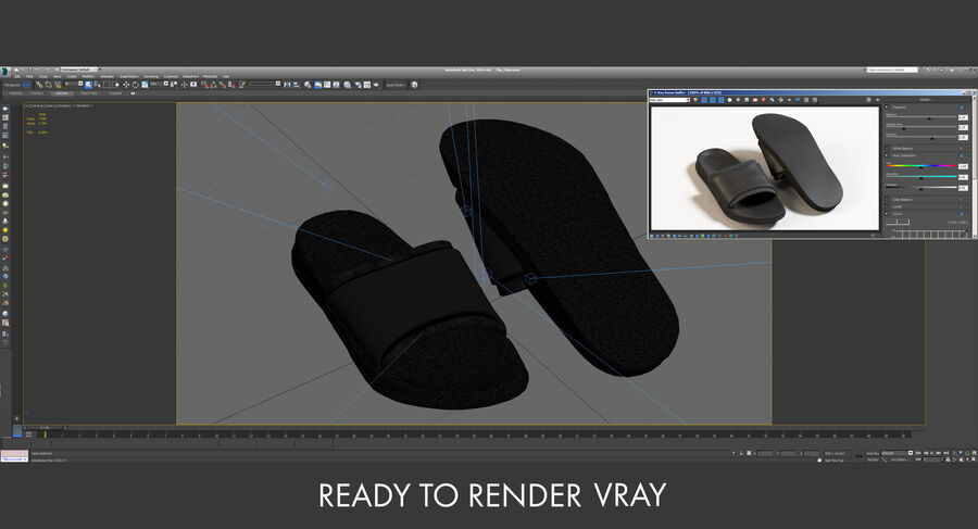 Flip Flops royalty-free 3d model - Preview no. 33