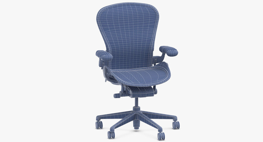 Chaise Herman Miller Aeron - 01 royalty-free 3d model - Preview no. 10