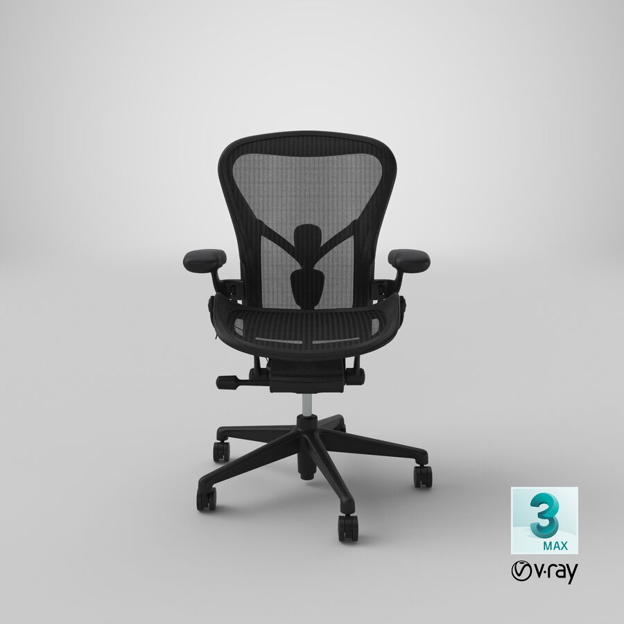 Chaise Herman Miller Aeron - 01 royalty-free 3d model - Preview no. 22