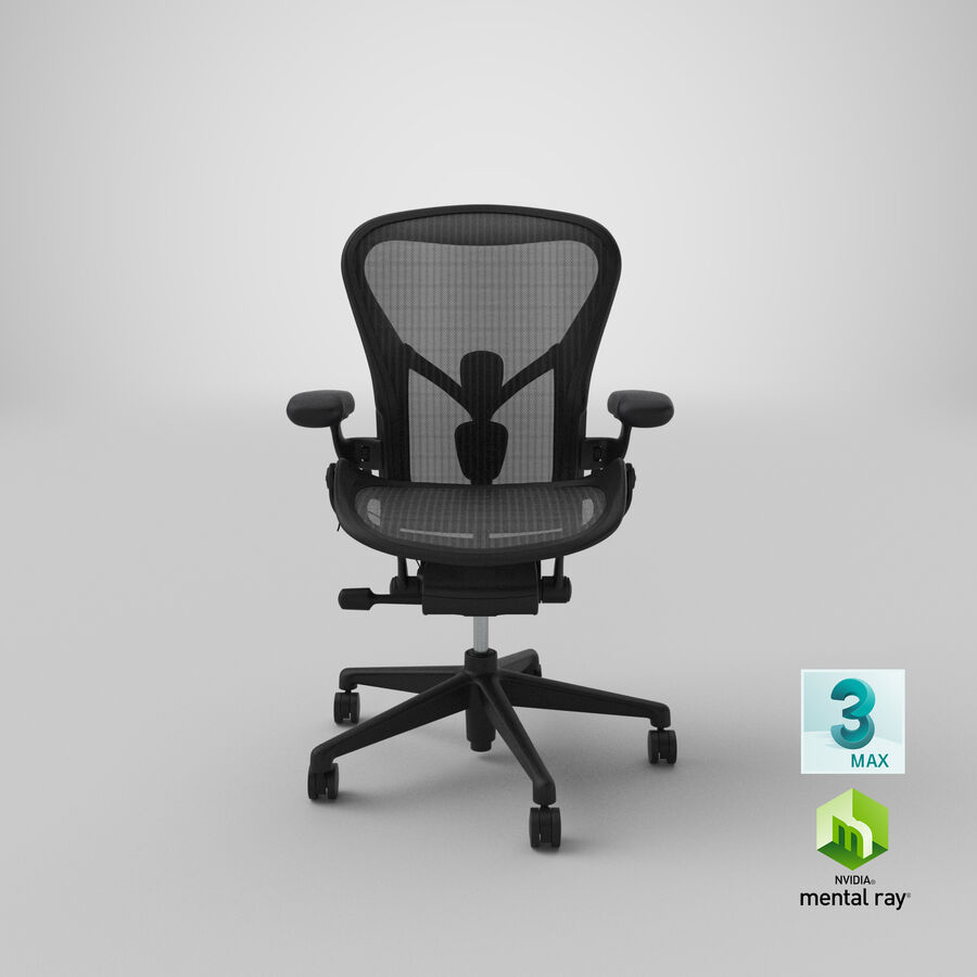 Chaise Herman Miller Aeron - 01 royalty-free 3d model - Preview no. 23