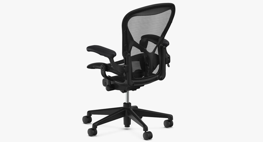Chaise Herman Miller Aeron - 01 royalty-free 3d model - Preview no. 7