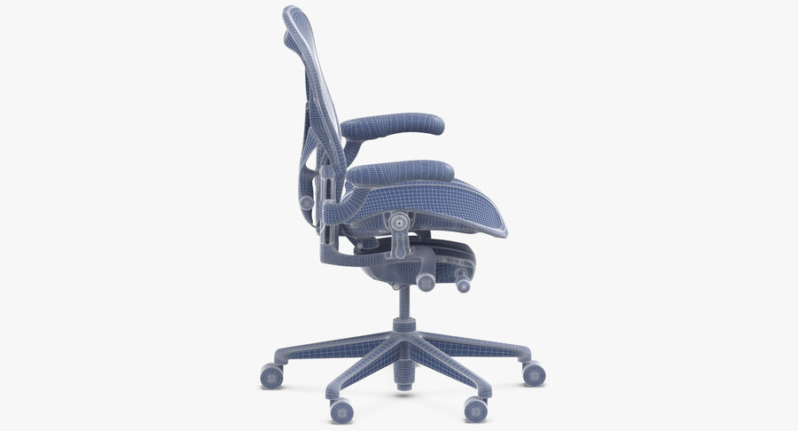 Chaise Herman Miller Aeron - 01 royalty-free 3d model - Preview no. 13