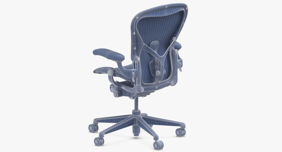 Chaise Herman Miller Aeron - 01 royalty-free 3d model - Preview no. 12