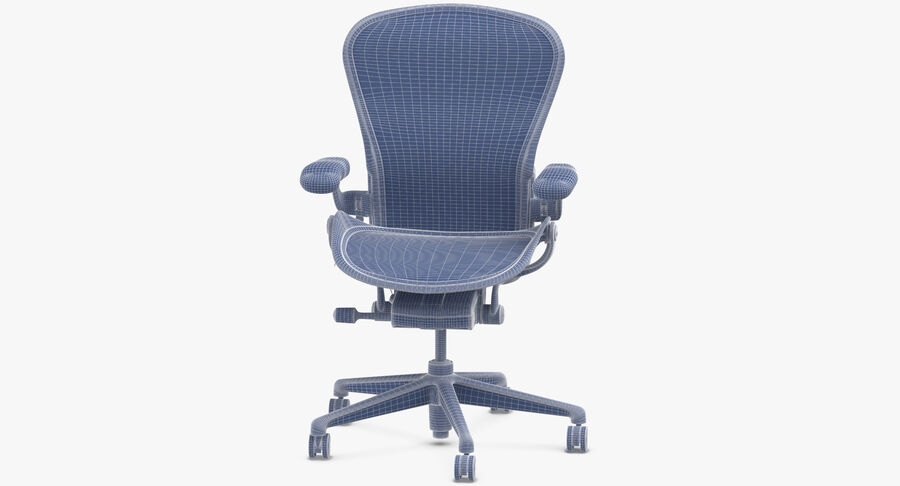 Chaise Herman Miller Aeron - 01 royalty-free 3d model - Preview no. 11
