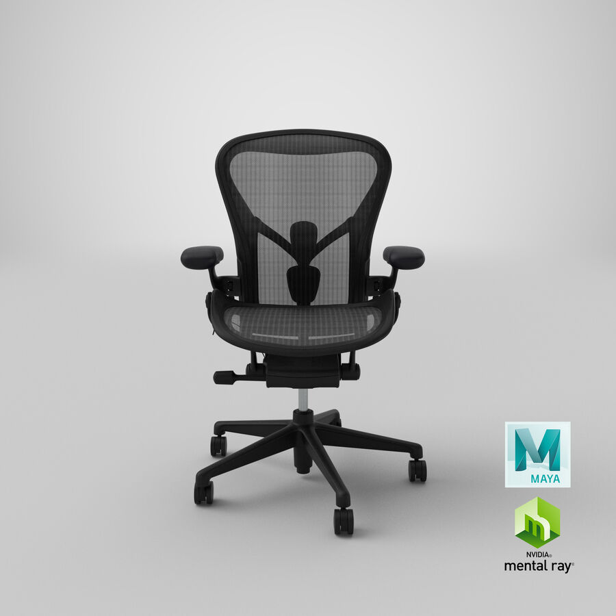 Chaise Herman Miller Aeron - 01 royalty-free 3d model - Preview no. 21