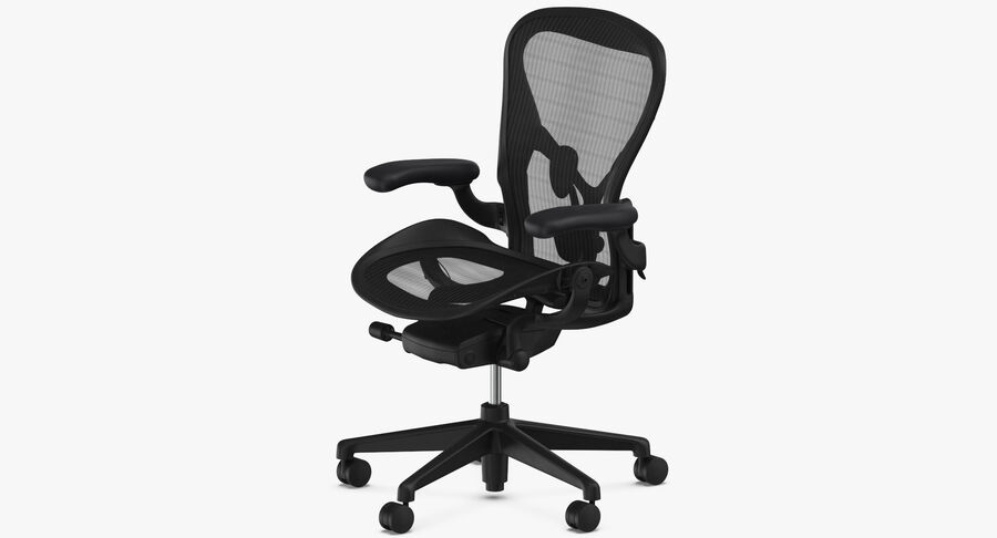 Chaise Herman Miller Aeron - 01 royalty-free 3d model - Preview no. 4