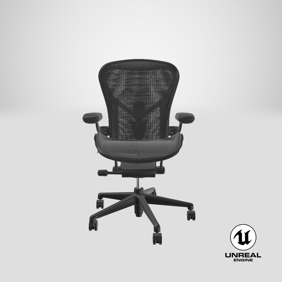 Chaise Herman Miller Aeron - 01 royalty-free 3d model - Preview no. 25