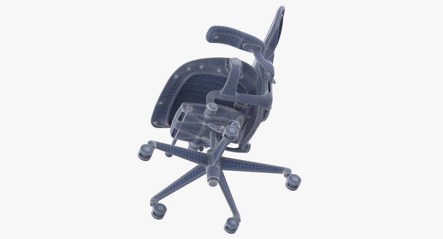 Chaise Herman Miller Aeron - 01 royalty-free 3d model - Preview no. 14
