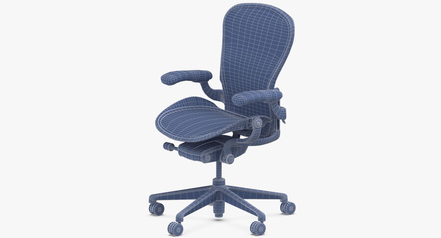 Chaise Herman Miller Aeron - 01 royalty-free 3d model - Preview no. 15
