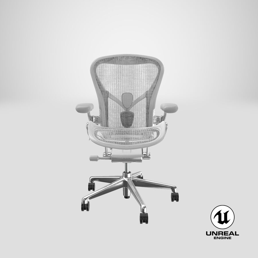 Chaise Herman Miller Aeron - 03 royalty-free 3d model - Preview no. 25
