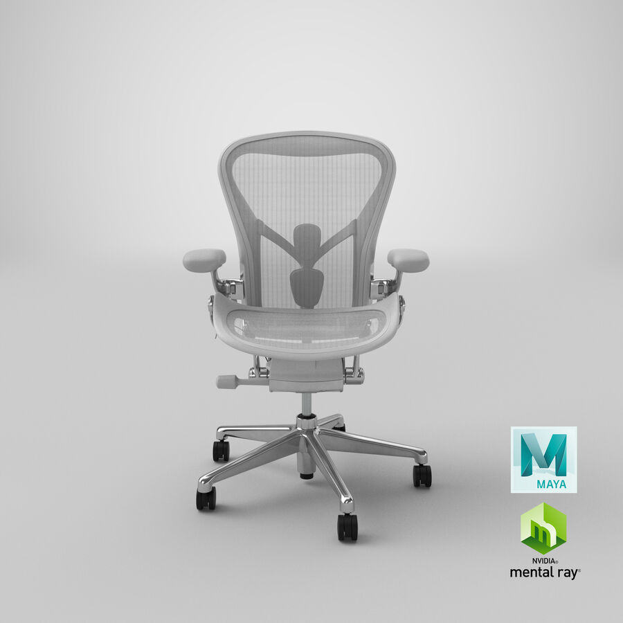 Chaise Herman Miller Aeron - 03 royalty-free 3d model - Preview no. 21