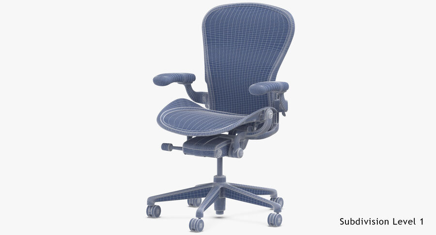 Chaise Herman Miller Aeron - 03 royalty-free 3d model - Preview no. 18