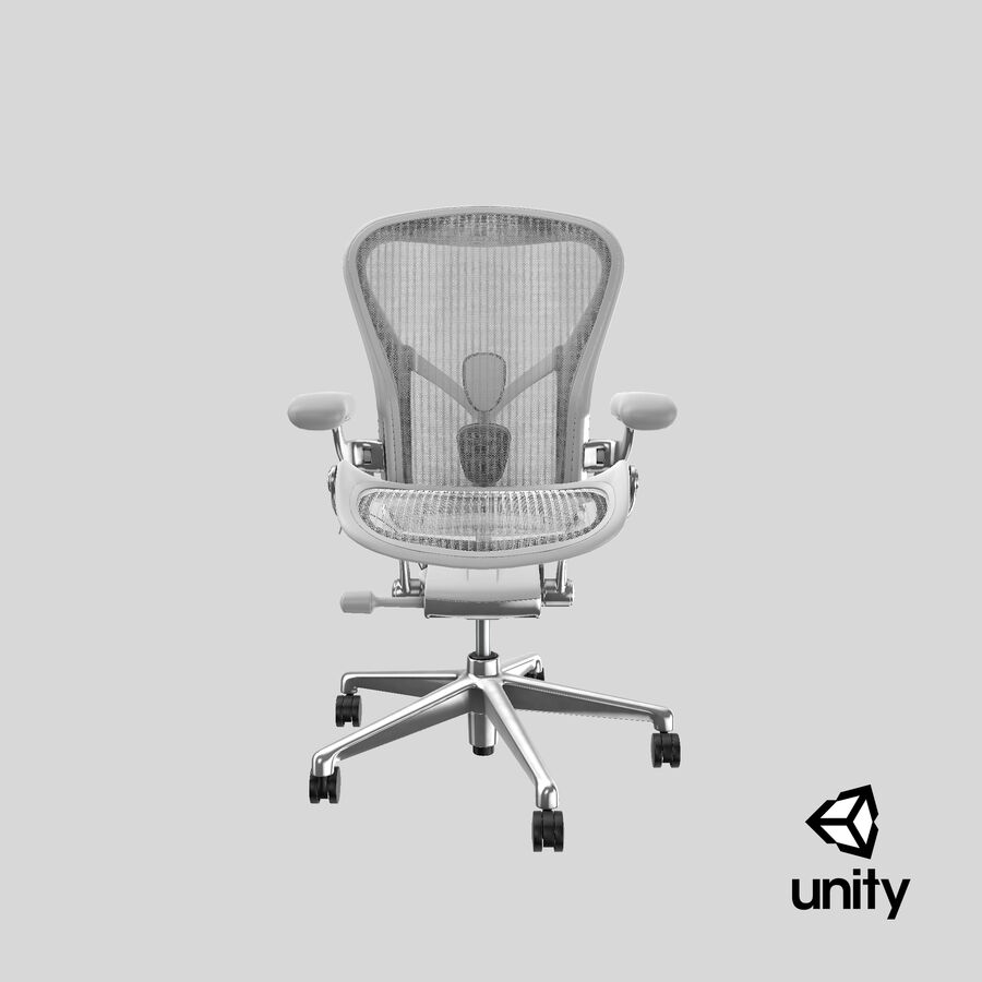 Chaise Herman Miller Aeron - 03 royalty-free 3d model - Preview no. 26