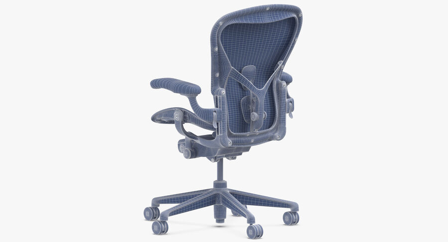 Chaise Herman Miller Aeron - 03 royalty-free 3d model - Preview no. 12