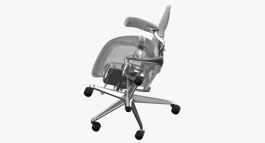 Chaise Herman Miller Aeron - 03 royalty-free 3d model - Preview no. 9
