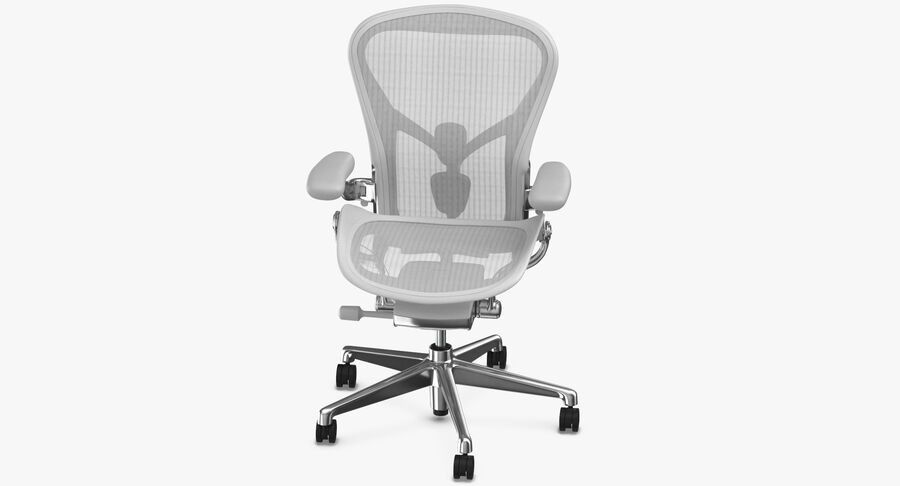 Chaise Herman Miller Aeron - 03 royalty-free 3d model - Preview no. 6